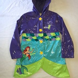 Disney Store Little Mermaid Rain Jacket 7-8 Ariel